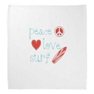 Peace Love Surf Bandana
