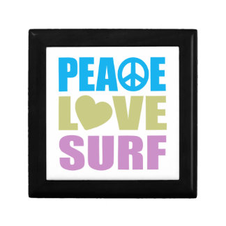 Peace Love Surf Small Square Gift Box
