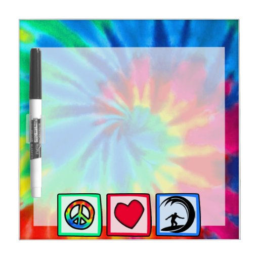 Peace, Love, Surfing Dry-Erase Whiteboards
