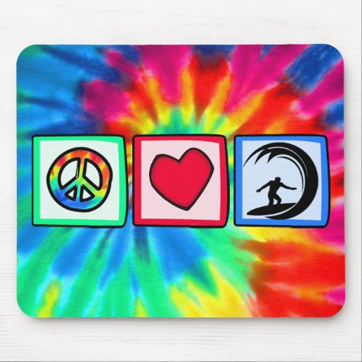 Peace, Love, Surfing Mousepad