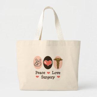 Peace Love Surgery Surgeon Tote Bag
