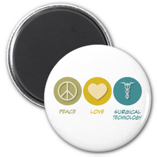 Peace Love Surgical Technology 6 Cm Round Magnet