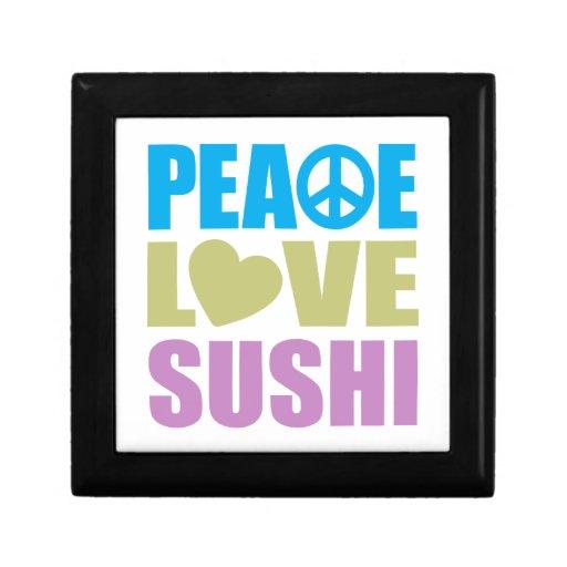 Peace Love Sushi Keepsake Box