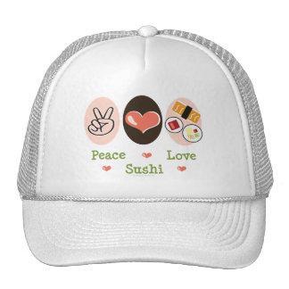 Peace Love Sushi Hat