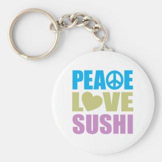 Peace Love Sushi Key Ring