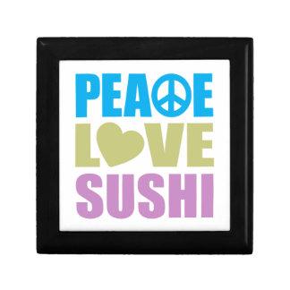 Peace Love Sushi Small Square Gift Box