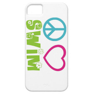 Peace Love Swim iPhone 5 Cover