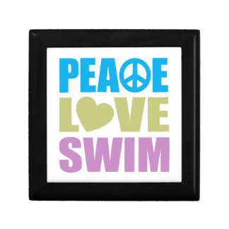 Peace Love Swim Small Square Gift Box