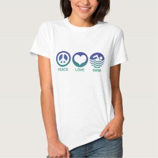 Peace Love Swim T Shirts