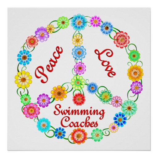 PEACE LOVE SWIMMING COACHES POSTERS