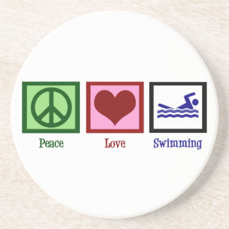 Peace Love Swimming Coasters