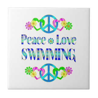 Peace Love Swimming Tiles