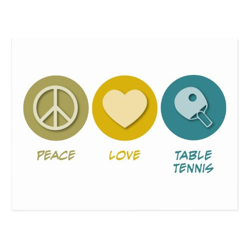 Peace Love Table Tennis Postcards