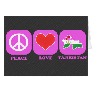 Peace Love Tajikistan Card