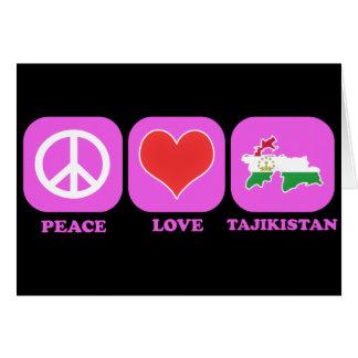 Peace Love Tajikistan Greeting Card