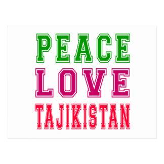Peace Love Tajikistan Postcard