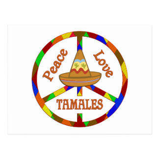 Peace Love Tamales Postcard