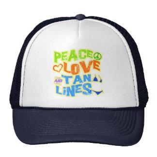 Peace Love Tan Lines Mesh Hat