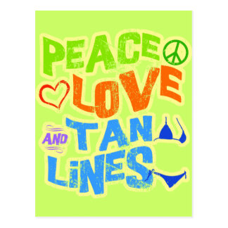 Peace Love Tan Lines Postcards