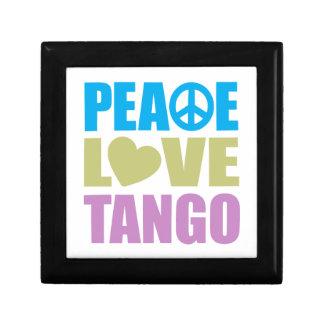 Peace Love Tango Small Square Gift Box