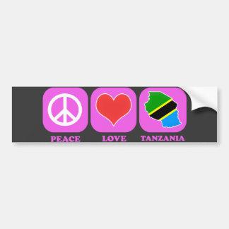 Peace Love Tanzania Bumper Sticker
