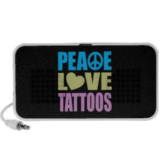 Peace Love Tattoos Laptop Speakers