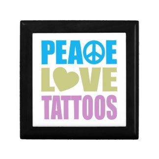Peace Love Tattoos Small Square Gift Box