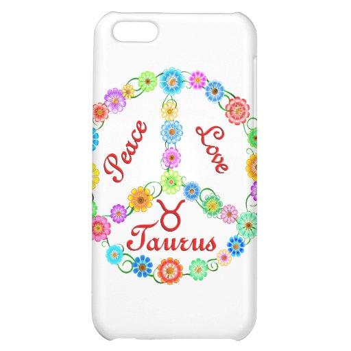 Peace Love Taurus iPhone 5C Cover