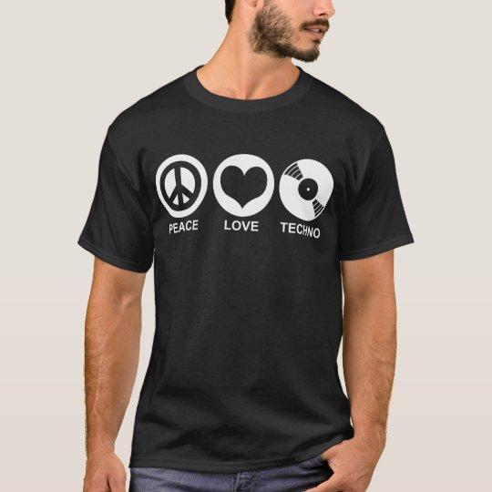 Peace Love Techno T-Shirt