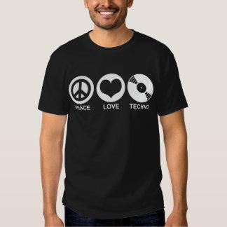 Peace Love Techno Tees