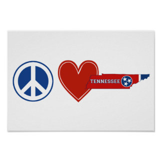 Peace Love Tennessee Poster