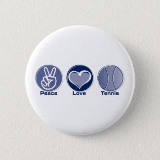 Peace Love Tennis 6 Cm Round Badge