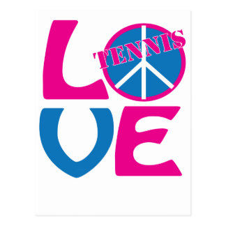 Peace, Love, Tennis Apparel and Gifts Postcard