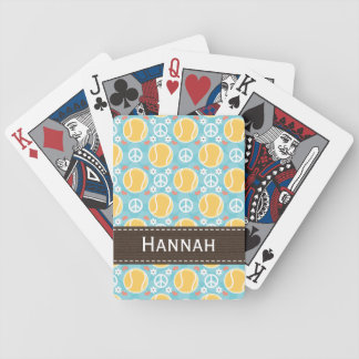 Peace Love Tennis Bicycle® Playing Cards