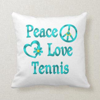Peace Love Tennis Cushion