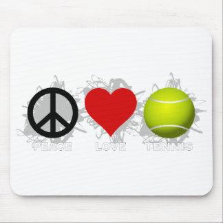 Peace Love Tennis Emblem Mouse Pad