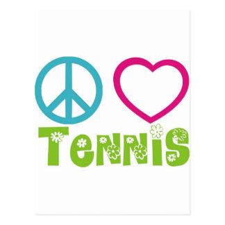 Peace Love Tennis Post Cards