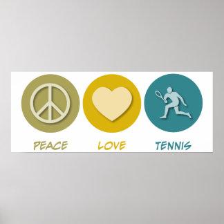 Peace Love Tennis Print