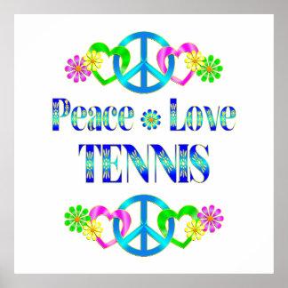 Peace Love Tennis Poster