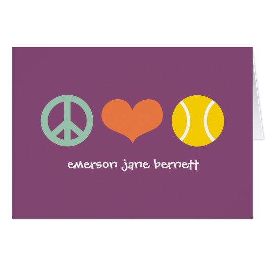 Peace, Love, Tennis Purple Card