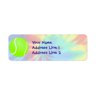 Peace, Love, Tennis Return Address Label