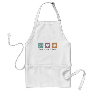 Peace Love Tennis Standard Apron