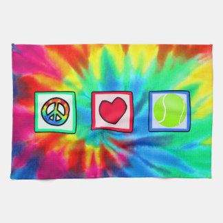 Peace, Love, Tennis Tea Towel