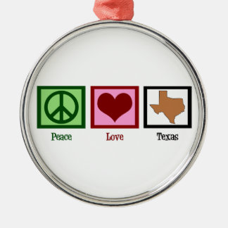 Peace Love Texas Christmas Ornament