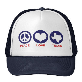 Peace Love Texas Hat