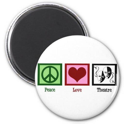 Peace Love Theatre 6 Cm Round Magnet