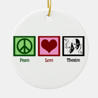 Peace Love Theatre Christmas Ornament