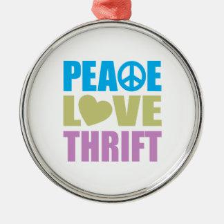 Peace Love Thrift Christmas Ornament