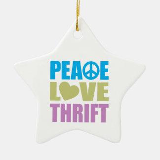 Peace Love Thrift Christmas Tree Ornaments