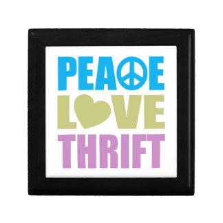 Peace Love Thrift Keepsake Boxes
